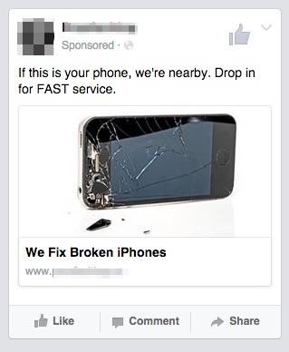broken phones local ad